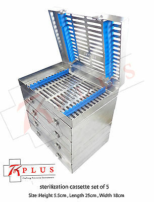 Dental Sterilization Cassettes Rack Tray Hold 13 Autoclave Surgical Instruments