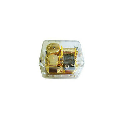 18 note Wind-up Clear Plastic Mini  Music Box Play Laputa-The Castle in the Sky