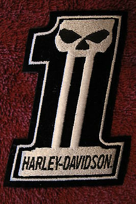 "HARLEY DAVIDSON #1 WILLIE G. SKULL PATCH - 4 1/2"" x 3"" - NEW"