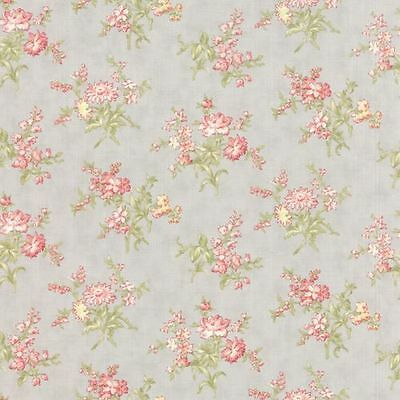 Moda 3 Sisters Whitewashed Cottage Blossom Buds Fabric in Pebble Grey 44065-14