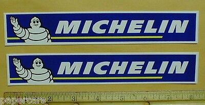 "2 Michelin Tires Tire Man NASCAR Auto Drag Racing tool box decal sticker 8"" lot"