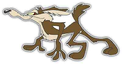 "Wile Coyote The Road Runner Cartoon Car Bumper Window Vinyl Sticker Decal 6""X3""."