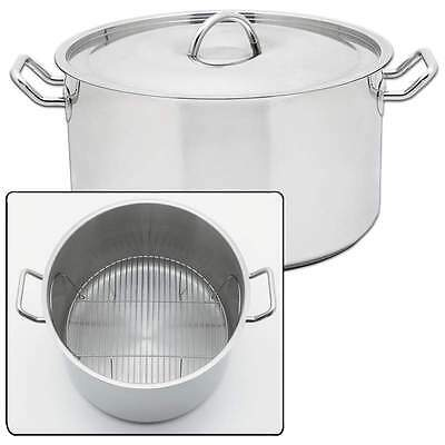 42qt Waterless Stockpot Stainless Steel Stock Pots Large Cooking Pan Pot