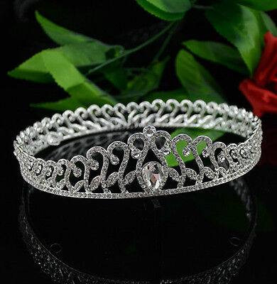 4.5cm High Full Crystal Luxury Wedding Bridal Party Pageant Prom Crown