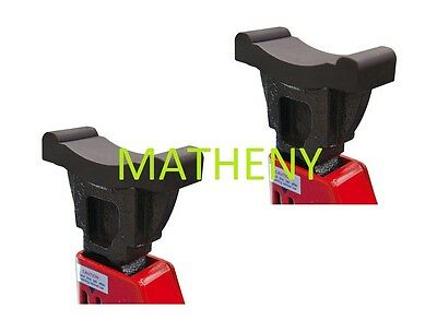 Universal 2 Ton Rubber Jack Stand Protective Cover Pads 2-Pack ~ Jacking Cushion