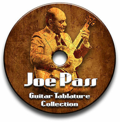 Joe Pass Jazz Guitar Tabs Tablature Song Book Software Collection Cd