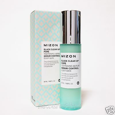MIZON Black Clean Up Pore Tightening Serum 50ml Sebum Control Silky Skin