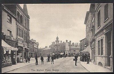 Warwickshire Postcard - The Market Place, Rugby    BH2168