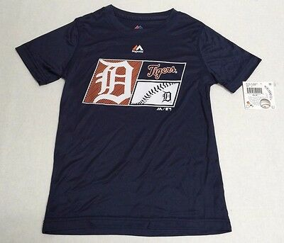 Detroit Tigers Official Genuine Baseball MLB Majestic Athletic T-Shirt Polyester