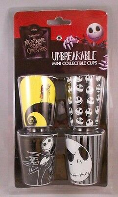 NIGHTMARE BEFORE CHRISTMAS 1 oz. Plastic Shot Glass Set of 4,
