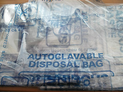 10 LARGE AUTOCLAVE BAGS FOR STERILISATION ie MUSHROOM SUBSTRATE GROWING