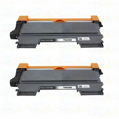 2PK New TN450 Toner Cartridge for Brother HL2240 2242D 2270DW MFC7360N Printer