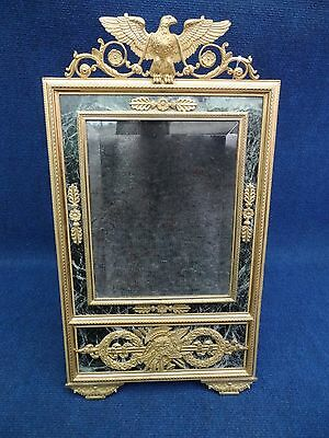 EMPIRE REVIVAL DRESSING TABLE MIRROR FRENCH NIII Green marble Gilt bronze mounts
