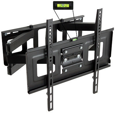 Support mural tv muraux pivotant inclinable telé 32 40 42 46 50 52 55 81-140 cm