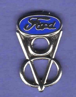 Ford V8 V 8 Auto Hat Pin Lapel Pin Tie Tac Badge #0232