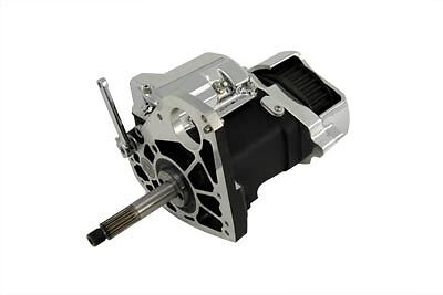 6-speed right side drive transmission with black wrinkle finish case.