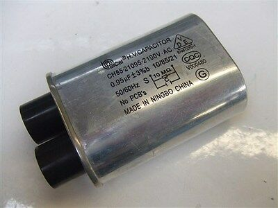 Microwave Oven H.V.Capacitor CH85-21095 2100V-AC 0.95uF 50/60Hz Replacement