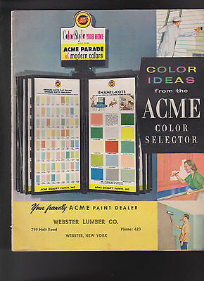 Acme Color Selector Ideas 1961 Acme Parade of Modern Colors