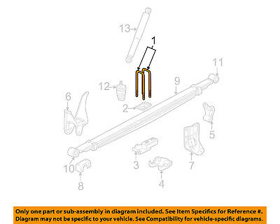 GM OEM REAR Suspension-U-bolt 15002781