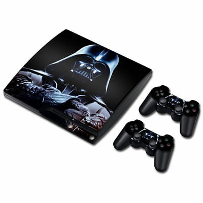 Skin Sticker Vinyl Decal Cover For PS3 PlayStation 3 Slim+2 Controllers TNS1147#