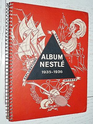 Album Nestle Complet 1935-1936 Football Rugby Boxe Tennis Auto Aviation Cyclisme