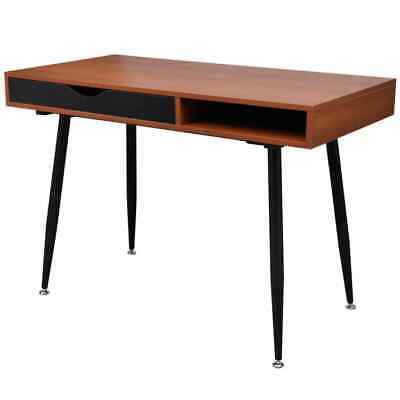vidaXL Table d'Ordinateur MDF Brun Table de Console Bureau Table de Travail