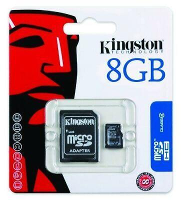 Kingston 8Gb Micro Sd-Hc Card + Adapter For Mobile Phone Tablet Hd Camera Tf Mp3
