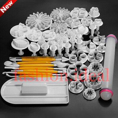 Hot Sale 60 Styles Fondant Cake Decorating Plunger Cookie Cutters Set Tools #F
