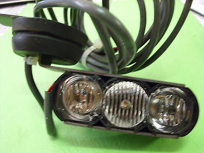 Code 3  Optix Trio  Led Headlight  Wiring & Bracket Pair