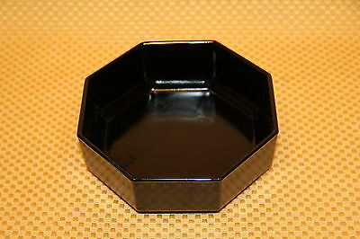 "Vintage Arcoroc OCTIME BLACK Glass Octagon 5.5"" SOUP BOWL Made in France"