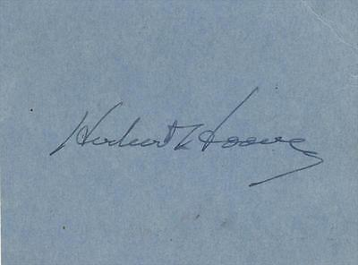 President Herbert Hoover- 1936 Signed Ticket