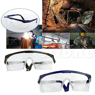 Lab/Sport/Industry Safety Protective Goggles Glasses Clear Lens Eye Protection