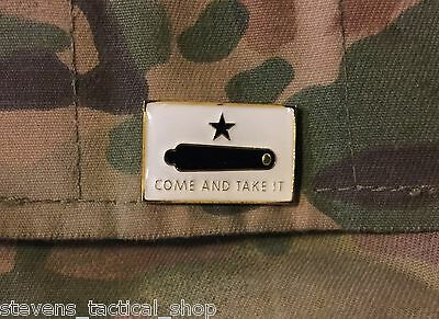 Gonzales Come and Take it Flag Lapel, Vest, Hat Pin