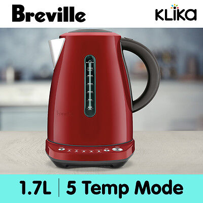Breville 1.7L Kettle Temp Select Stainless Steel Electric Bke720 Cranberry