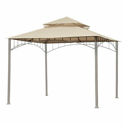 10'x10' Waterproof Gazebo Top 2 Tier Replacement UV30+ Outdoor Yard Canopy Cover