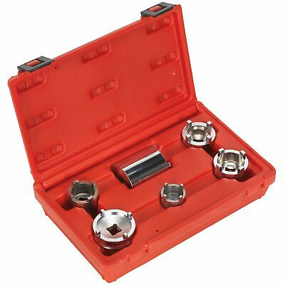 Sealey Motorcycle/Bike Swingarm Lock Nut Removal Socket Set 6 Piece - MS050