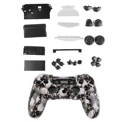 White Skull Controller Shell Housing Case Cover Buttons Parts for Sony PS4