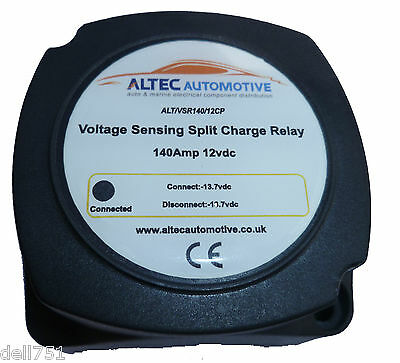 140Amp 12v SPLIT CHARGE RELAY FULLY AUTOMATIC