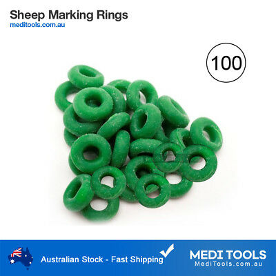 100 x Bainbridge Marking Rings/Castration/Tail Banding/Sheep/Cattle/Farm/Bands