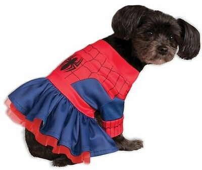 Pet Dog Cat Spiderman Spidergirl Superhero Fancy Dress Costume Outfit Clothes