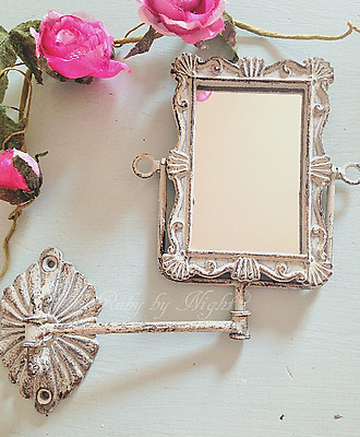 Shabby Chic Swivel Mirror Wall Mounted Swing Arm French Vintage Bathroom Bedroom