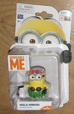 Genuine official Despicable Me 2 Hula Minion Action Figure Minions poseable