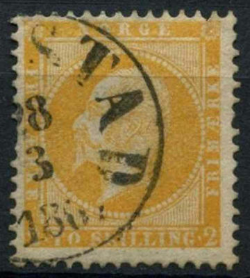 Norway 1856-60 SG#4, 2sk Orange-Yellow Used #A90600