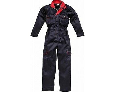 Dickies Ladies Overalls WD4839W Navy & Red Womens Boilersuit Coverall Workwear