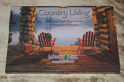 LEANIN TREE Country Living 20 GREETING CARD ASSORTMENT ~ For All Occasions ~