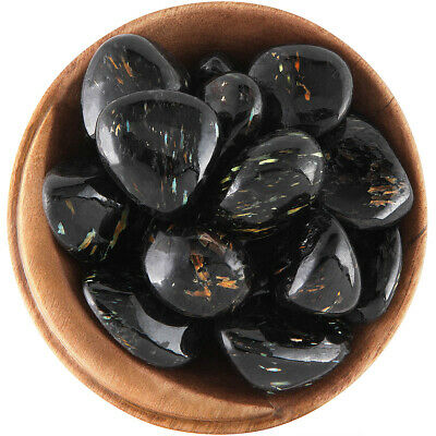 1 NUUMMITE - Ethically Sourced, 1 Inch Tumbled Stone