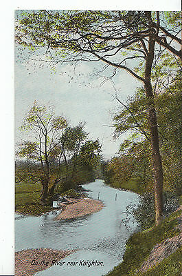 Wales Postcard - On The River Near Knighton - Radnorshire   U809