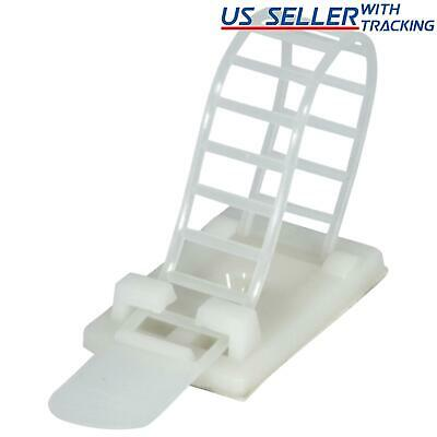 Reusable Adhesive Cable Management Straps Cord Clips, Heavy Duty 25PK (White)