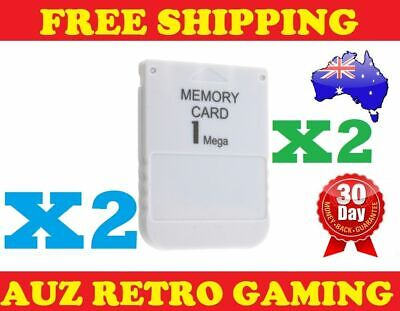 2x New Playstation 1 PS1 MEMORY CARD Save Blocks PSX PS One 1MB