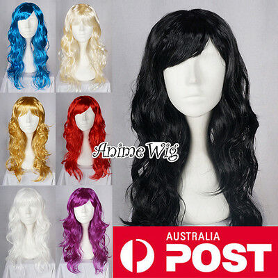 Long 60CM Curly 8 Colors Costume Cosplay Fashion Party Wig Halloween Gift